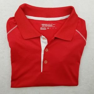 Nike Golf Tour Performance Red Polo Shirt XL